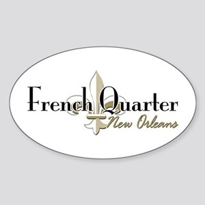 French Quarter NO Sticker (Oval)